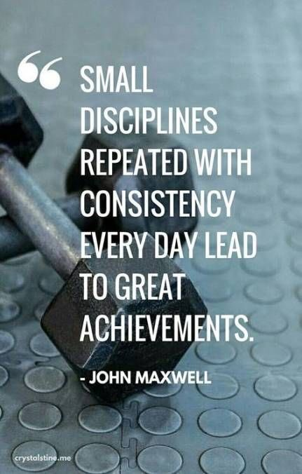 """Small changes add up to make a big difference """"Small disciplines repeated with #consistency every day lead to great achievements."""" -John Maxwell #Achieve #achievementunlocked #quotes #quote #quoteoftheday #quotesoftheday #quotesaboutlife #results #fitnessjourney #journey<br>http://pic.twitter.com/h8dUQggQ9Y"""