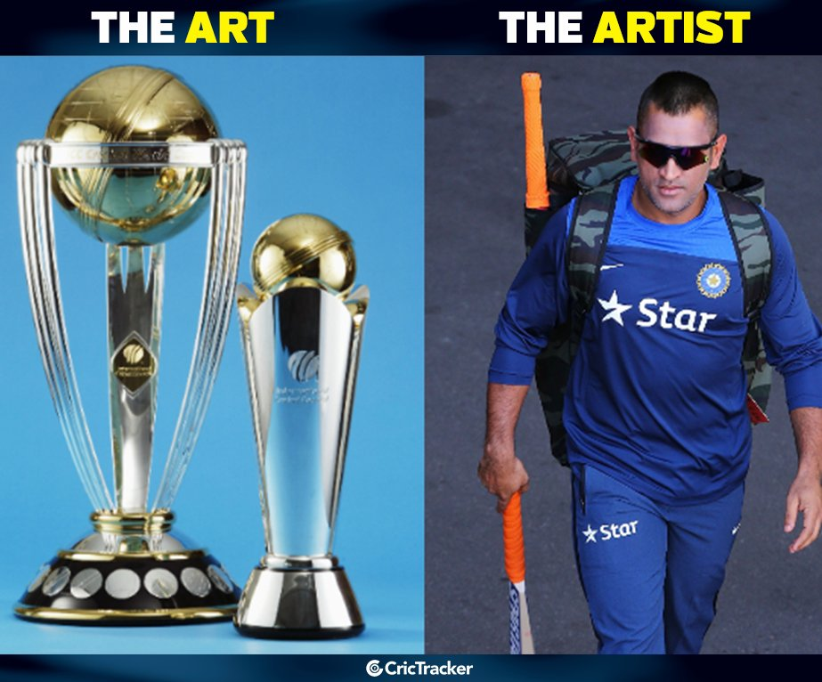 MS Dhoni has mastered the art of winning ICC trophies. <br>http://pic.twitter.com/hZKD40S6fO