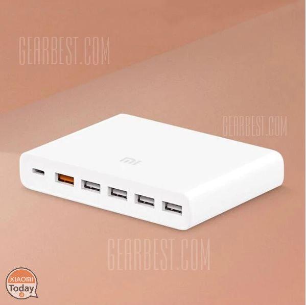 Codice Sconto - #Xiaomi Multi Port #Usb #Charger 60w Caricatore QC 3.0 a 22€ #Xiaomi #FlashSale #Gearbest #Power #Sale #Typec Qui ➡