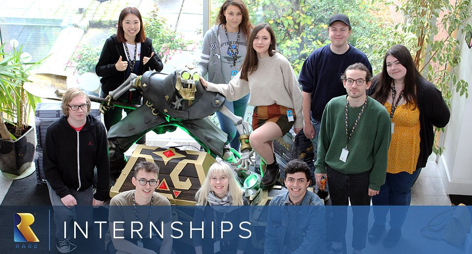 🚨 Some facts on the @RareLtd 2020 Internships 🚨  🔵 Roles in Production, Engineering, Art, Audio, Design, and Community (😎) on offer  🔵 A year's placement in a brilliant, creative studio  🔵 Lots of dogs. Like. So many  🔵 Ten days left to apply!  🔵