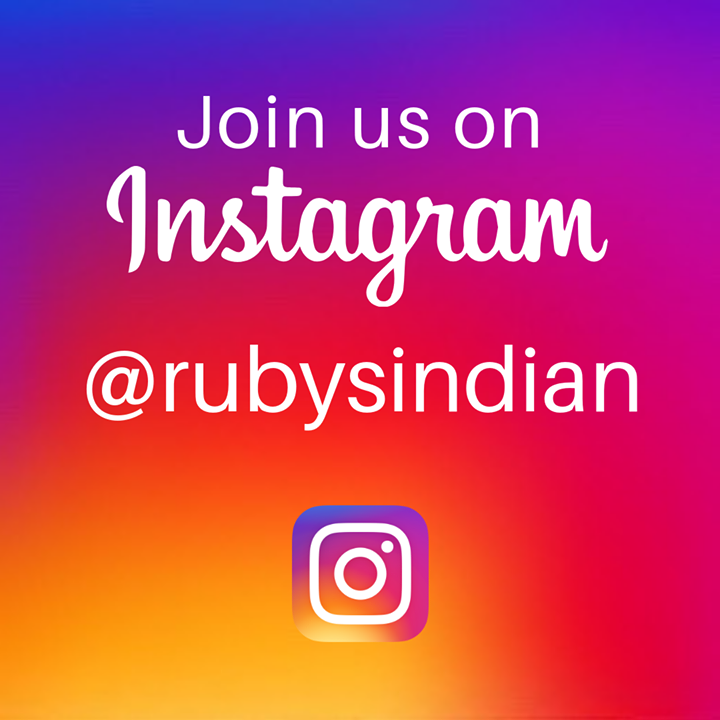 Join us on Instagram : @RubysIndian 👍🏼😍💯‼️  #instafood #instagood #foodie #indiancuisine #lovecurry #rubysrestaurant #foodpics #rubysstortford #currynight #instacurry #instapic #instalove ❤️