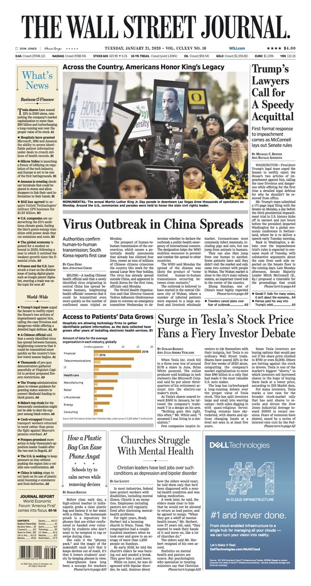 Take an early look at the front page of The Wall Street Journal https://on.wsj.com/2RzmsRj
