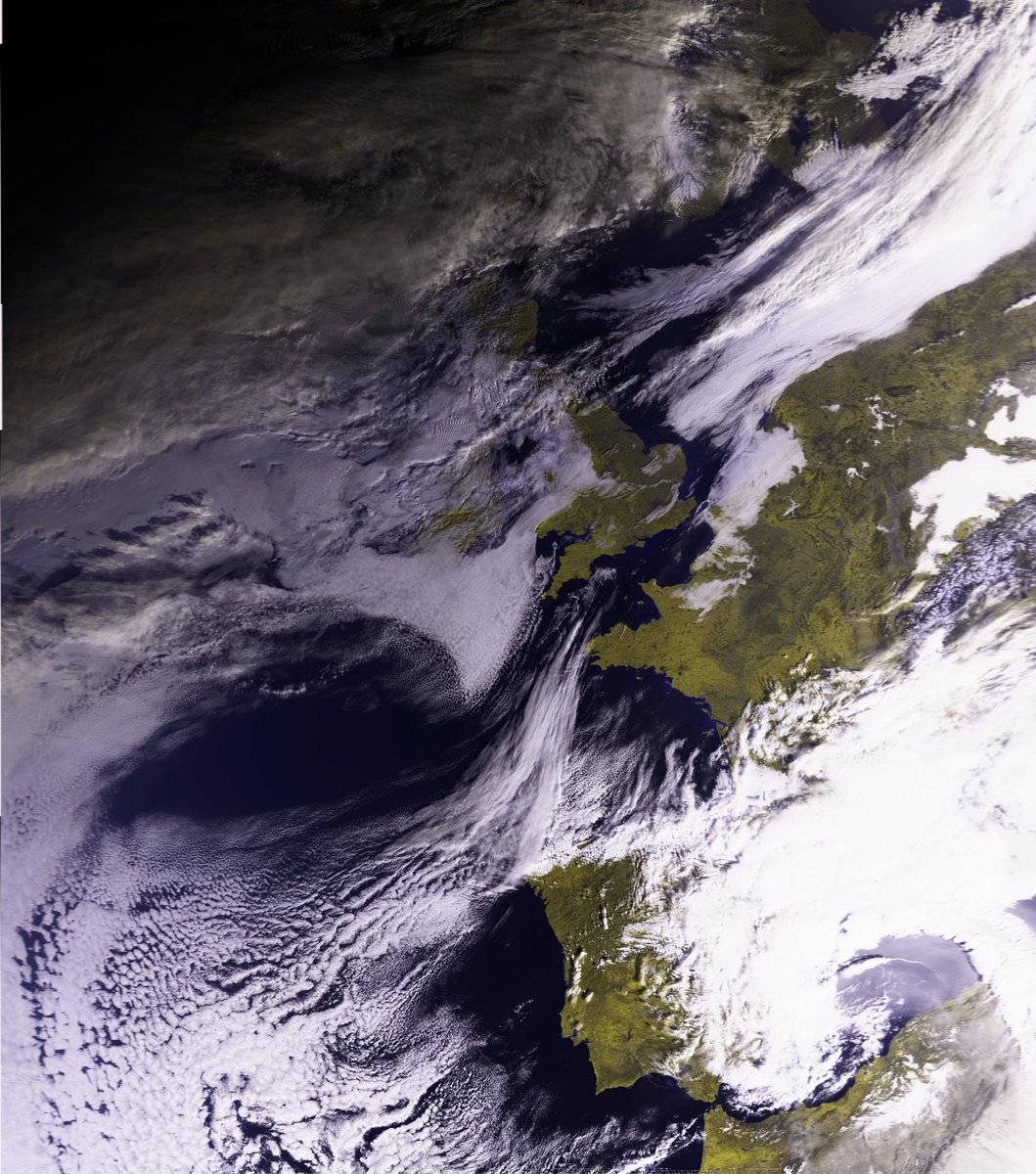 West of the Metop C hrpt. Handtracked out a cloudy nl.