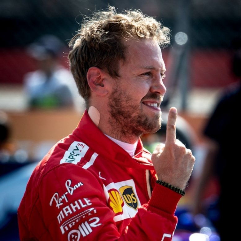 Pictures Of The Day: Sebastian Vettel - 2018 #BritishGP 🇬🇧 ☝️🏆   📸 Michael Potts   #Seb5 #F1