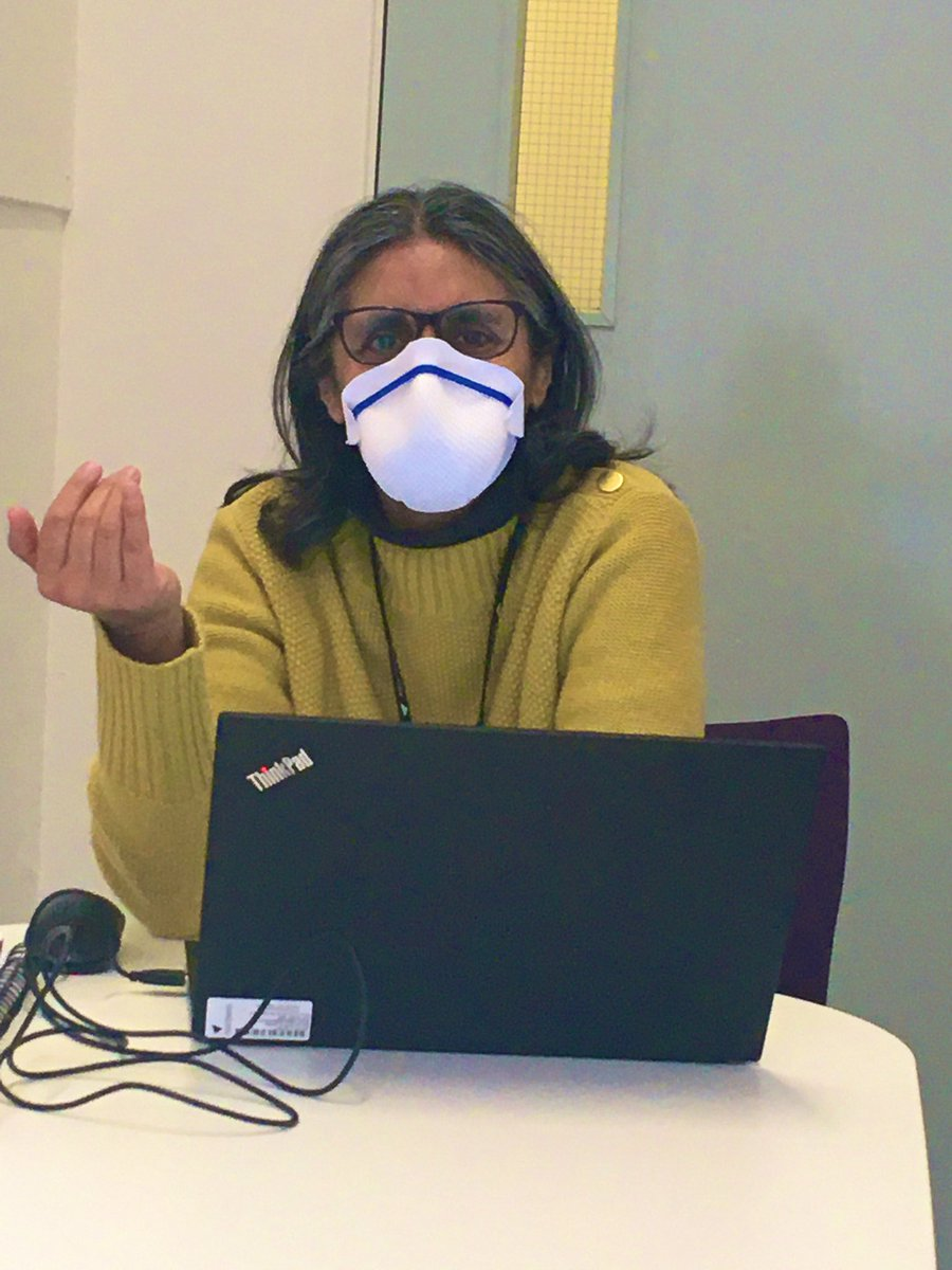 At @AstonMedicine we take infection control very seriously! Dr Afshan Ahmad making sure  we don't catch her cold! #path2healthcare #infectioncontrol #officefun pic.twitter.com/knD66pMljv