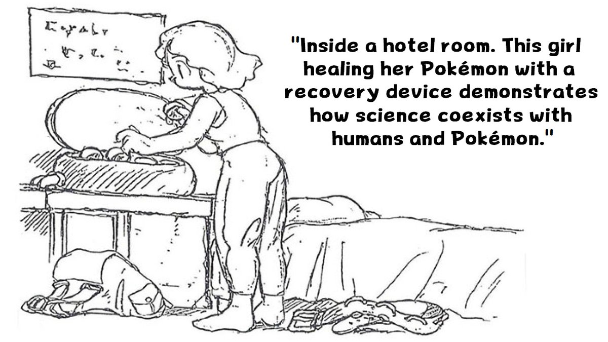 Pokemon Concept Art:  This 1990 concept art reveals Pokemon Hotels were originally meant to appear in Gen 1. It appears they ultimately got revised into Pokemon Centers.  This art was included in some design docs published in a Japanese book in 2009. I've included a translation. <br>http://pic.twitter.com/aKWVDJ5rDI