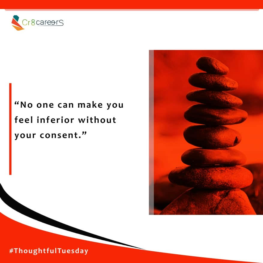 We Repeat, No One Can Make You Feel Different #ThoughtfulTuesday .  Follow Us Today To Stay Connected To Our Services @Cr8Careers . #Recruitment #Outsourcing #Assessments #OccupationalInterests #HRNigeria #CreativeBusinessOwner #CreativeHappyLife #CreativeBizHour #Tariqpic.twitter.com/mOl1r4lyRt