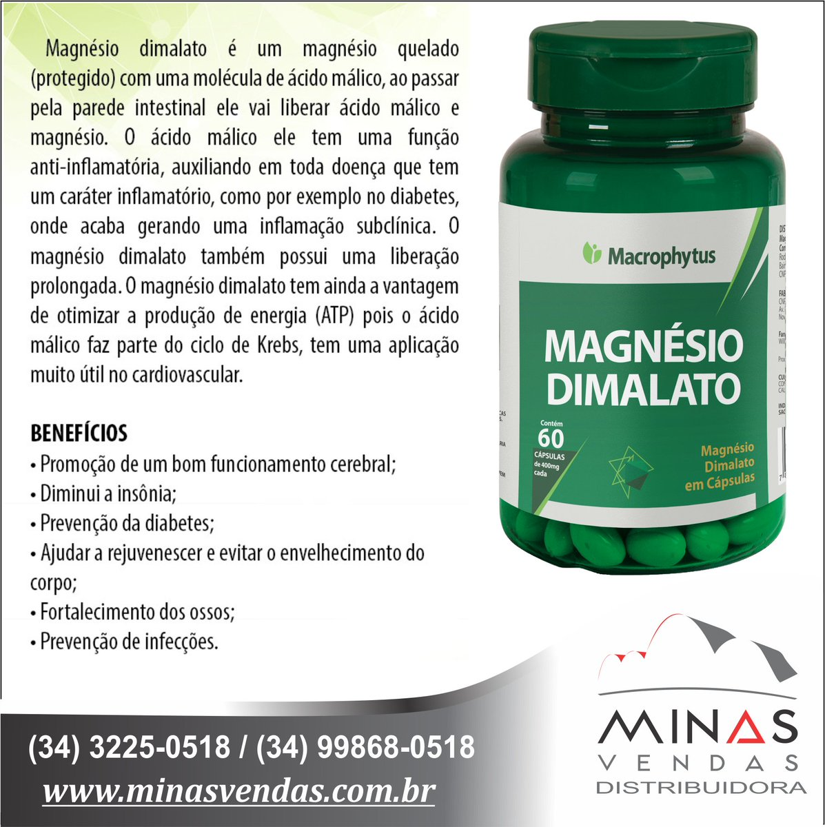 Já conhece os benefícios do uso contínuo do Magnésio Dimalato? Compre agora pelo link abaixo 👉  👈  #minasvendas #like4live #nature #suplementacao #love #happy #summer #repost #instalike #food #girls #followforfollow #treino #lojavirtual