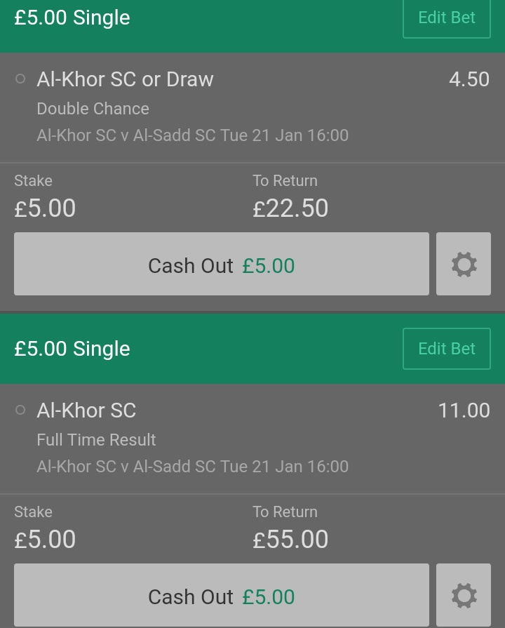 Trading on this game  Don't feel like Al-Sadd will win. I had taken a small risk on Home team double chance / win  Read:  http:// bit.ly/2TFTl1n        #Alsadd #QNBStarsLeague <br>http://pic.twitter.com/tHbIS9fvo8
