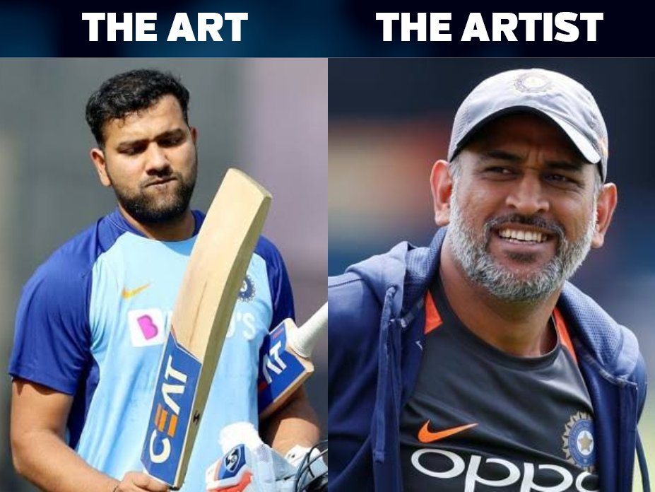'The Artist' MS Dhoni deserves credit for 'The Art' named Rohit Sharma.  (Via: @Sameera1606)<br>http://pic.twitter.com/34cmdRYJyb