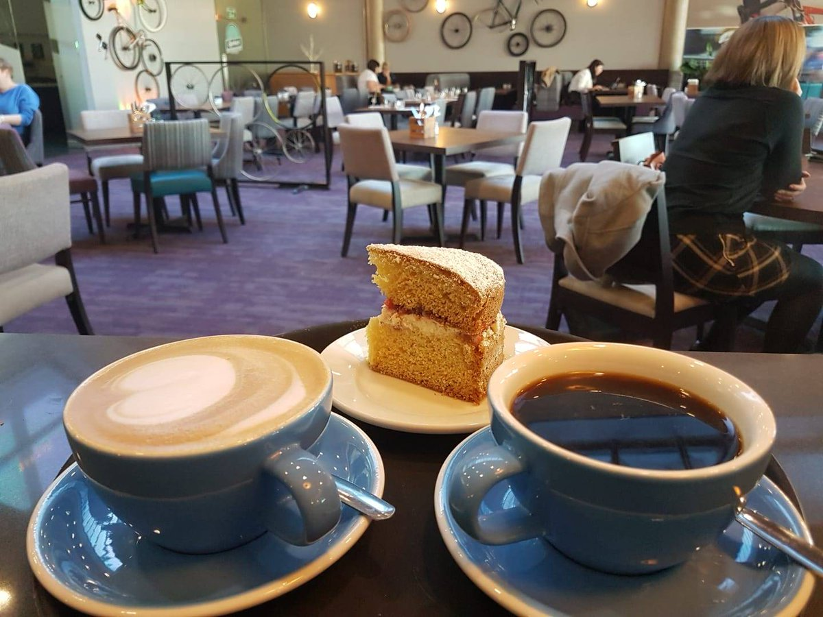 Coffee and cake for lunch? You got it! Victoria Sponge cake on the specials board today 🍰 #foodporn #LoveNotts #lunchtime