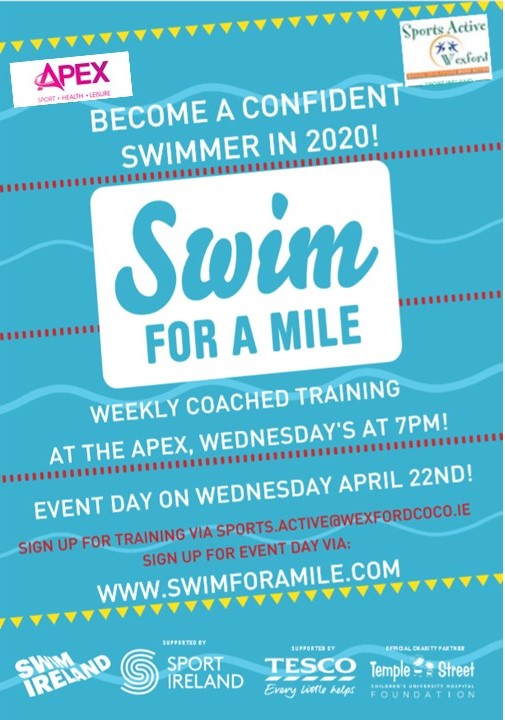 Want to Swim a Mile, welcome to our 12 week training programme 1 hour coached session. Costs €85. Places limited. Bookings can be made online – https://pay.easypaymentsplus.com/feepay1.aspx?id=179… @TheApexCentre @swimforamile @swimireland @wexfordcocopic.twitter.com/uKajCQHZeJ