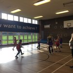Image for the Tweet beginning: Lunchtime Netball led by our