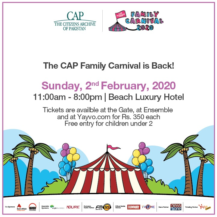 The CAP Family Carnival is back! Bring your friends and family to Beach Luxury Hotel on Sunday 2nd February 2020 from 11 am - 8 pm! The carnival has something for everyone! From games to art to food! Join us for a fun-filled day! #CAPFamilyCarnival<br>http://pic.twitter.com/i4zaBx7Vsq