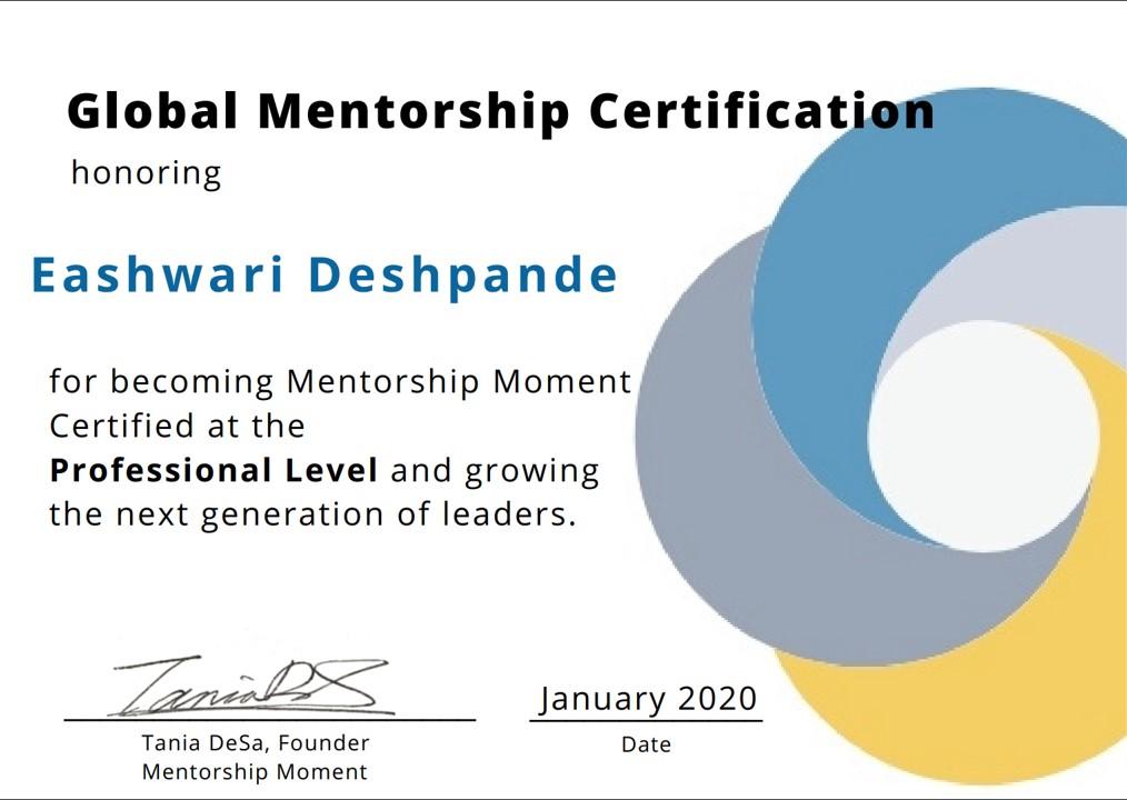 Big thank u @PrakashMallya @rosh_das @poulinPDX @MJHolthaus for the global @intel #ALP oppty where I met the awesome @PassionIgniter who encouraged me to take up the #MentorshipMoment  prog. Excited to #payitforward ! #Leadership #mentorship pic.twitter.com/MXCV5cnv2h