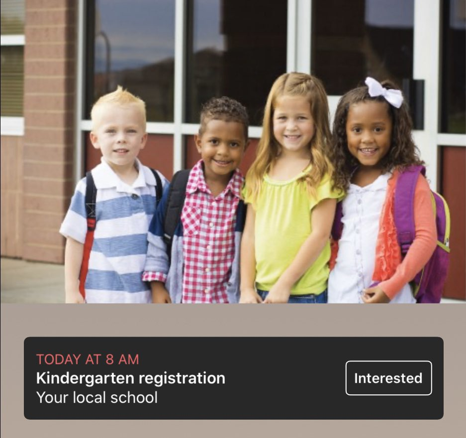 Kindergarten registration begins today! Go to your local elementary to enroll for the 2020-21 school year!