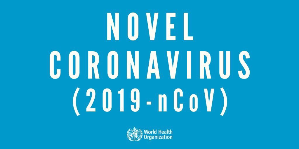 [BREAKING NEWS] For now, this is the name. 4 deaths. 222 confirmed.  Follow #nCoV2019 & @WHOWPRO for more info.  {novel: adjective. of a new kind; different from anything seen or known before: a novel idea}<br>http://pic.twitter.com/BXtv0kbmGY