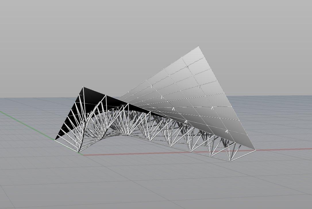 Rhinoceros勉強会で扱った、建築学生がすぐに使える、立体トラスのチュートリアルを投稿しています。Rhinoceros 立体トラスを作成する(UU_CD会)