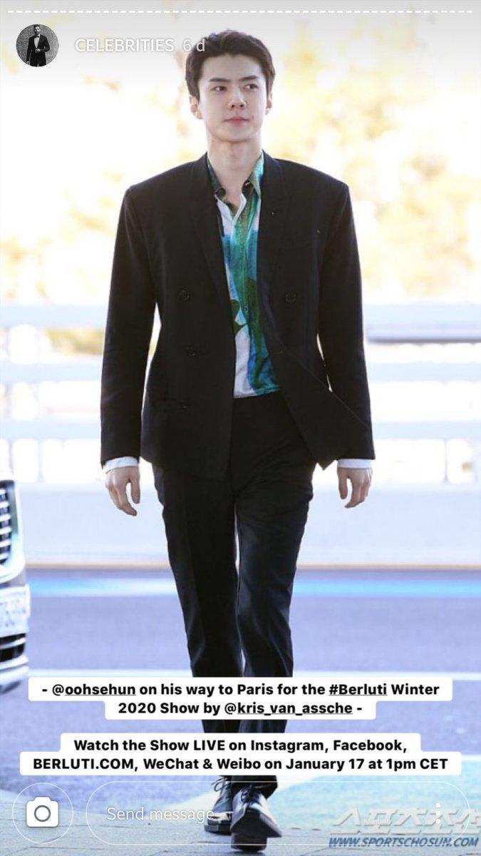 """[IG] 21.01.20 - A Berluti adicionou duas fotos do Sehun no destaque """"Celebrities"""" do Instagram da marca  (Via. OhSehunGlobal) https://instagram.com/berluti/ #엑소 #EXO #세훈 #SEHUN #世勋 #セフン  @weareoneEXO pic.twitter.com/JpWPJGQzt7"""