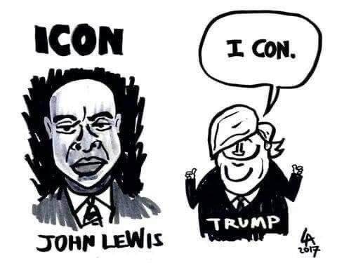 #Johnlewis is an #ICON while Trump is just a #Con.