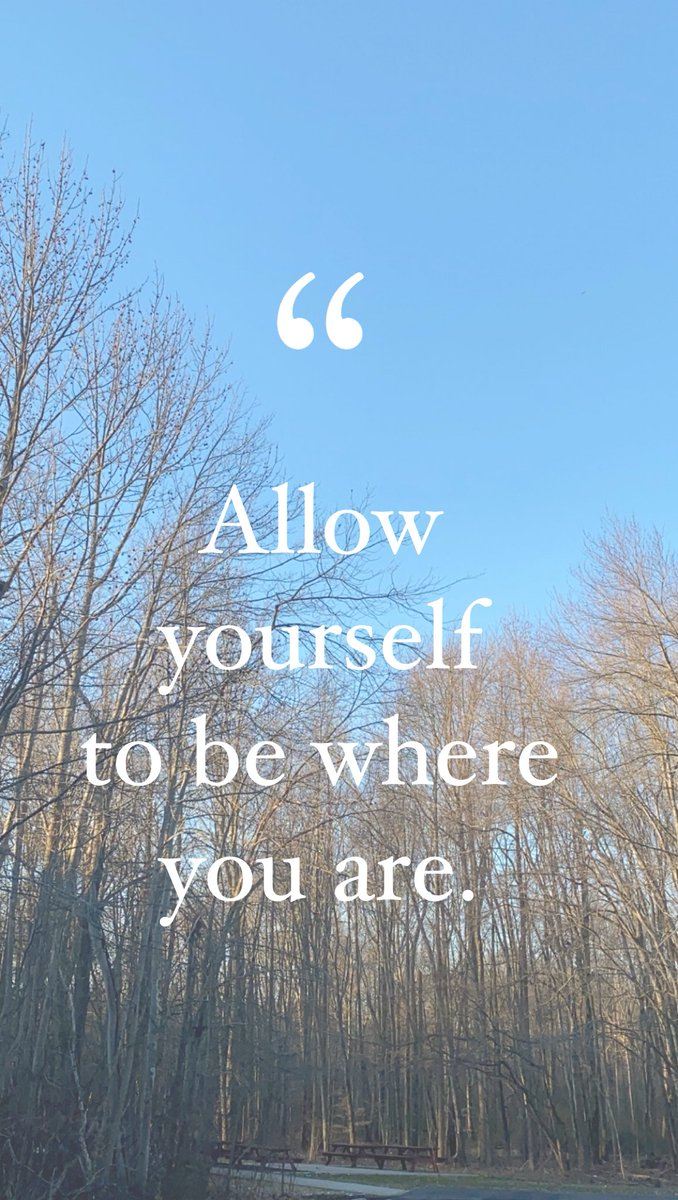 Allow yourself to be where you are. #quotesaboutlife <br>http://pic.twitter.com/qO6aVQoybV