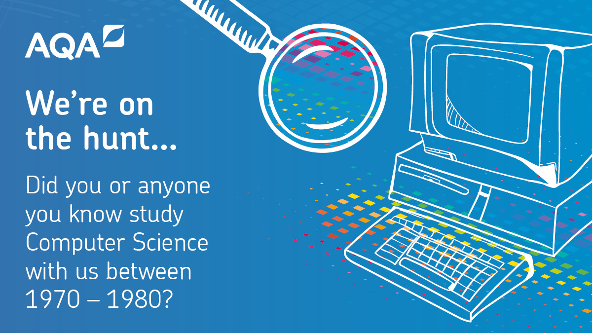To celebrate 50 years' delivering Computer Science assessments, we'd love to speak to anyone who studied the subject with AQA between 1970 – 1980. If this is you or someone you know, please DM us.