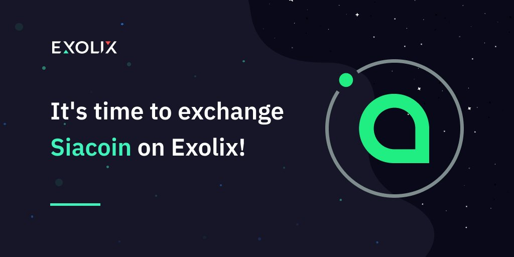 You now have more options for exchanging Siacoin!