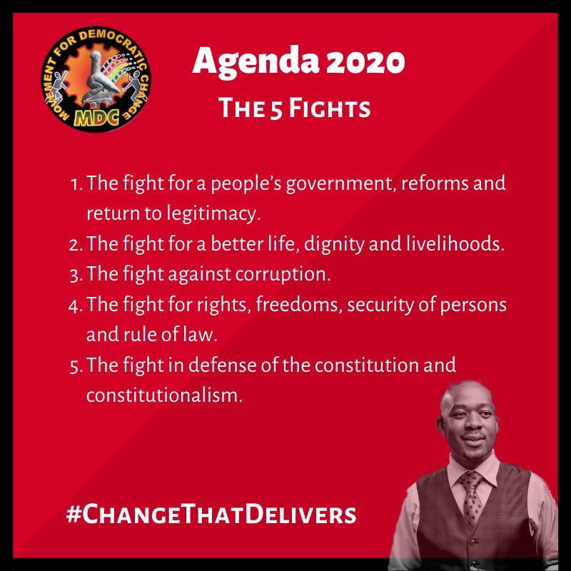 Five key fights of #MDC2020Agenda<br>http://pic.twitter.com/9I7DkHgDMZ