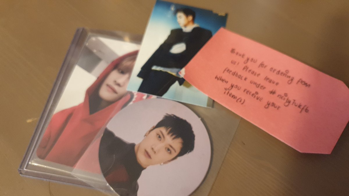 Aaa thank you so much @ncity7uk for these!!! They arrived quickly and safely and you're such a kind and sweet gom  thank you!! #ncity7ukfb <br>http://pic.twitter.com/b0dc3KZZCG