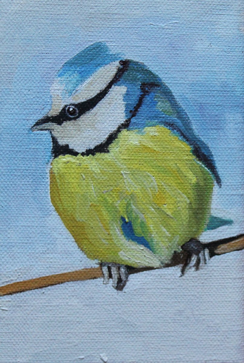 "I also Sold ""Wee Blue Tit"" to a collector in the US @artfinder   #BlueTit #Birdpainting #EmmaCownie #artfinder <br>http://pic.twitter.com/tReKi9Ls4n"