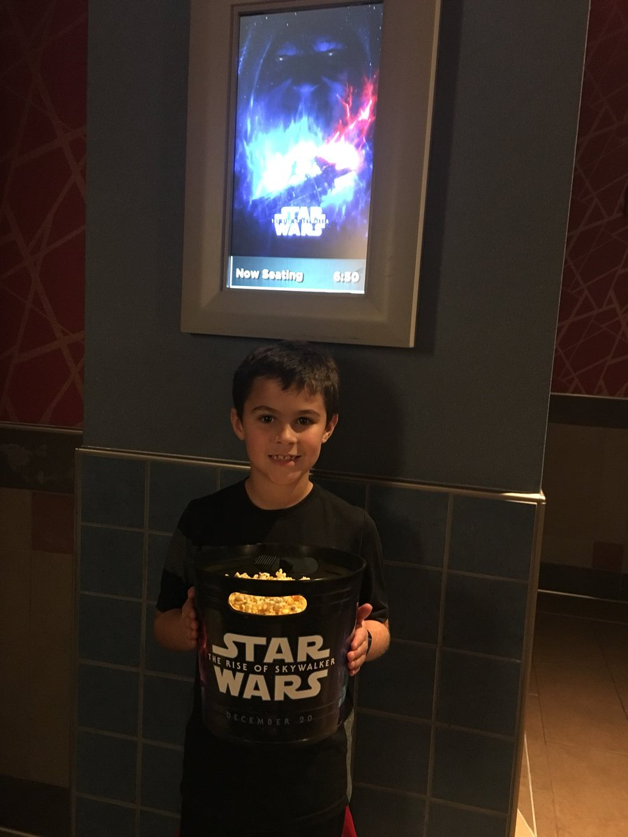 Finally got around to seeing Star Wars while eating a massive popcorn...on a school night #gasp