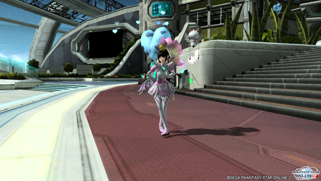 My PSO2 character on the Japanese server