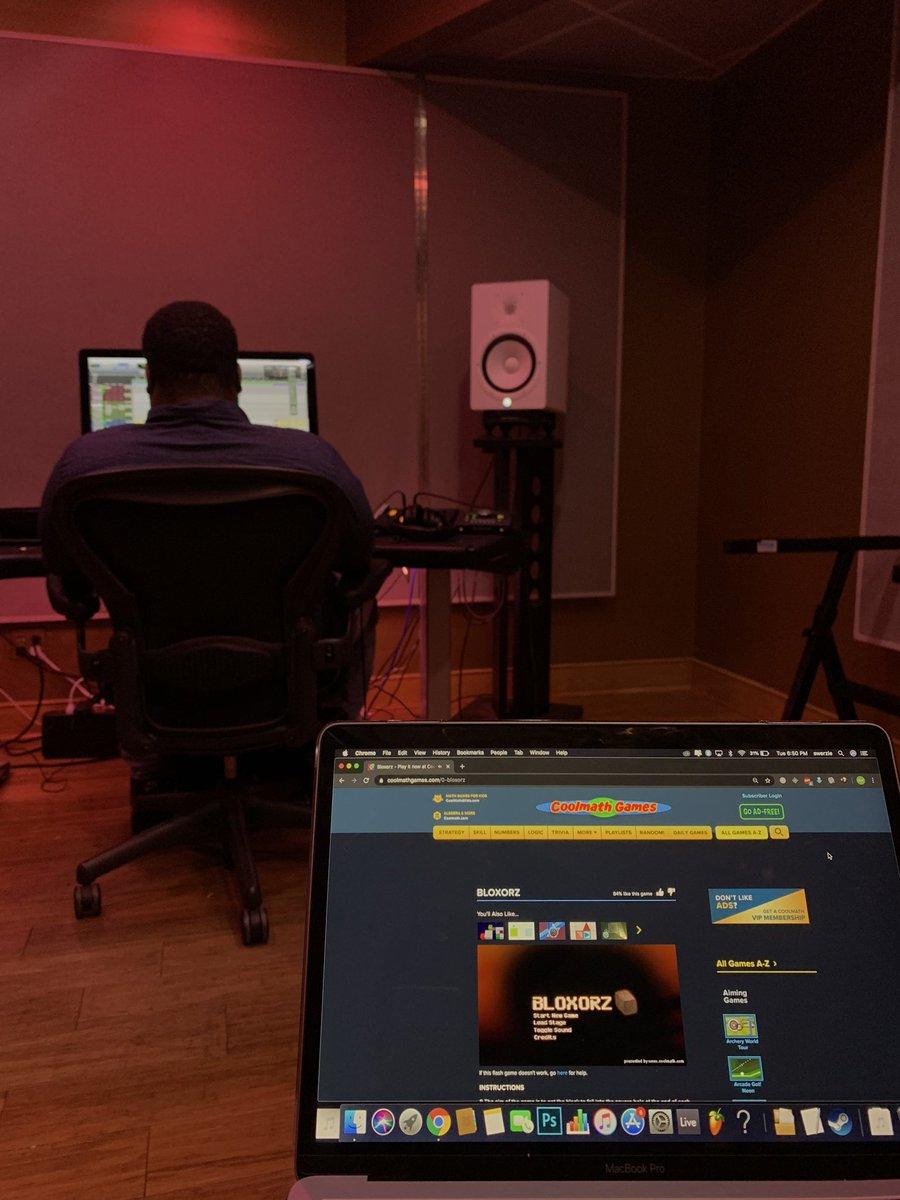 in da studio playing cool math games