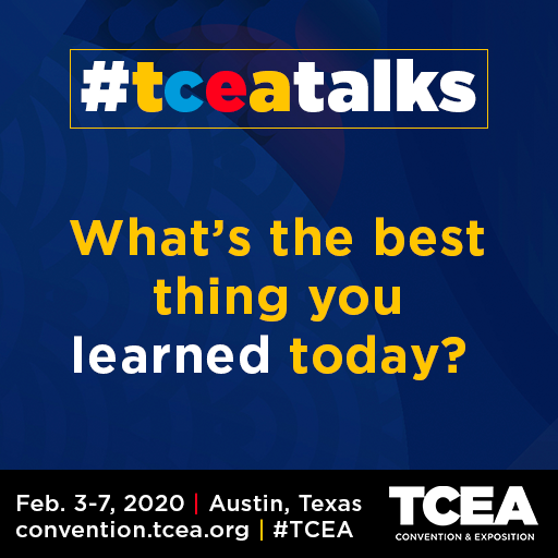 Can we pick your brain please? What's the best thing you learned today? #TCEA #TCEAtalks