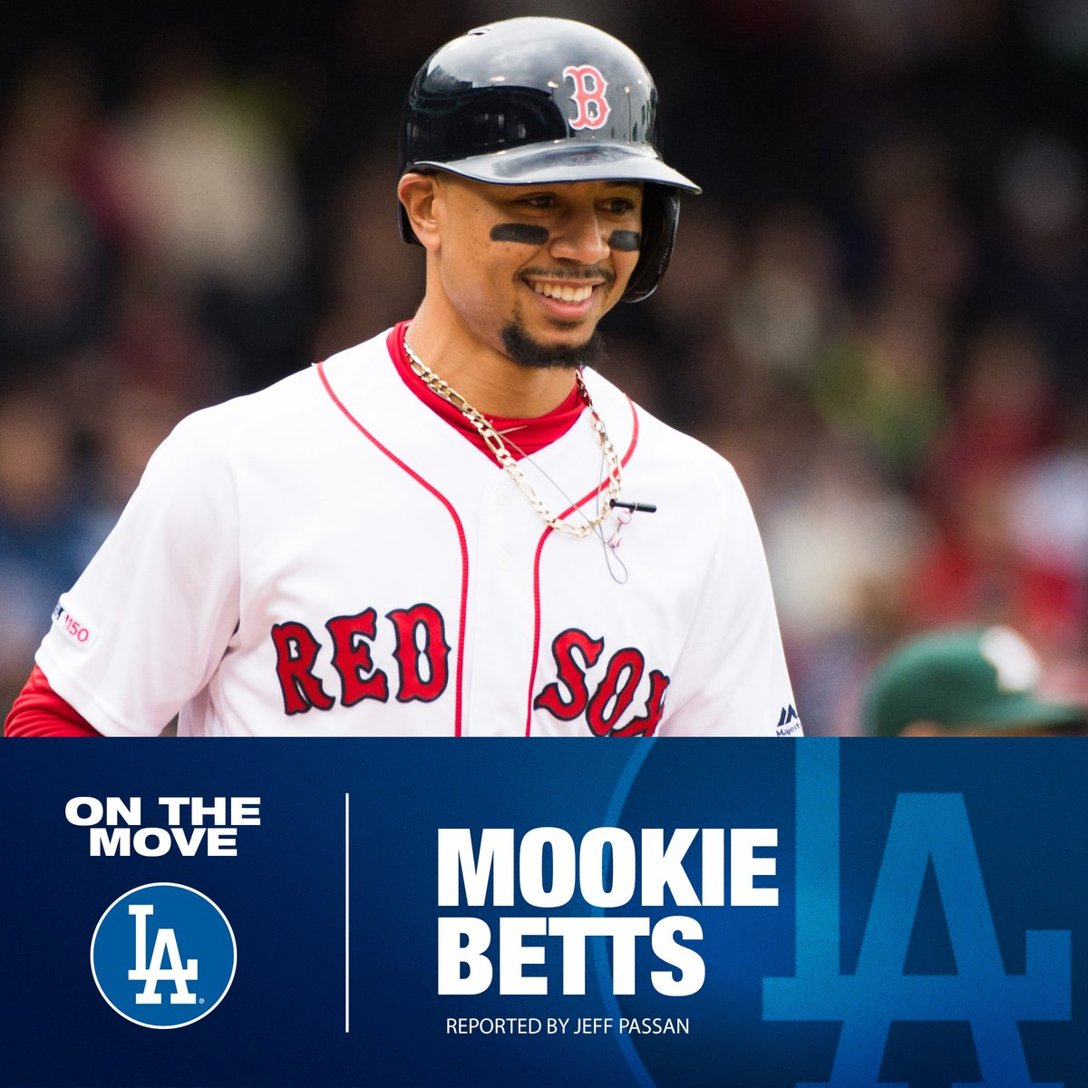 🚨 BLOCKBUSTER 🚨 Dodgers reportedly acquire Mookie Betts and David Price from the Red Sox, per @JeffPassan.