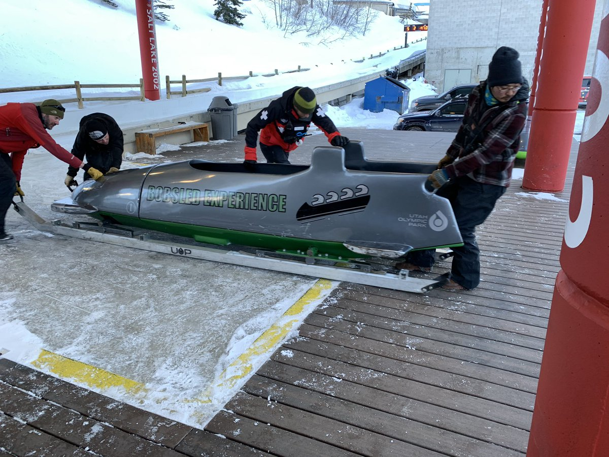 Had a great time today @UtahOlympicPark doing the bobsled run! 65 mph down the run through 10 turns. Thanks to my son Adam for the great Christmas present.