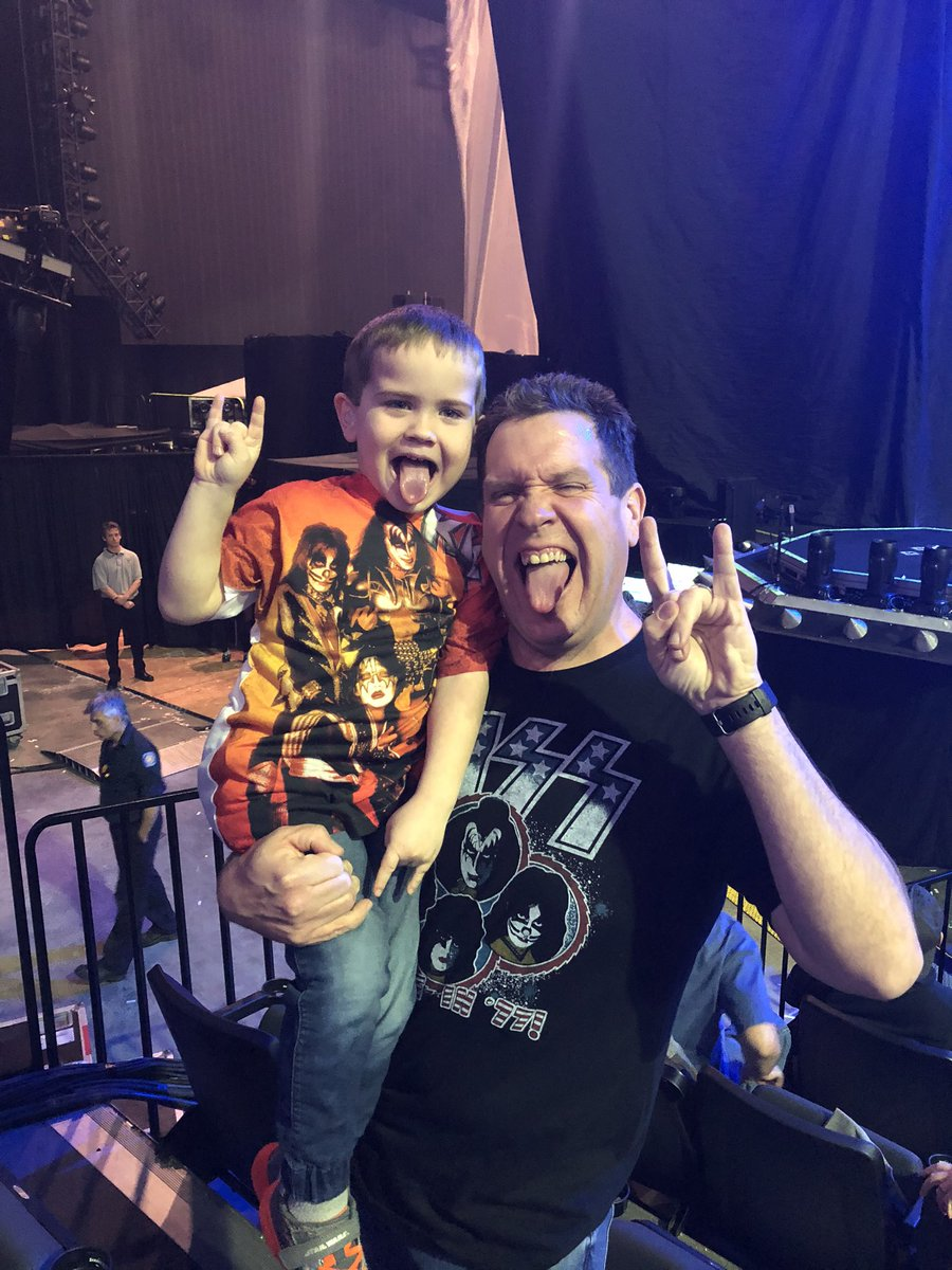 @suzqumc @KISSOnline @PPLCenter Took Nicholas to his first concert.