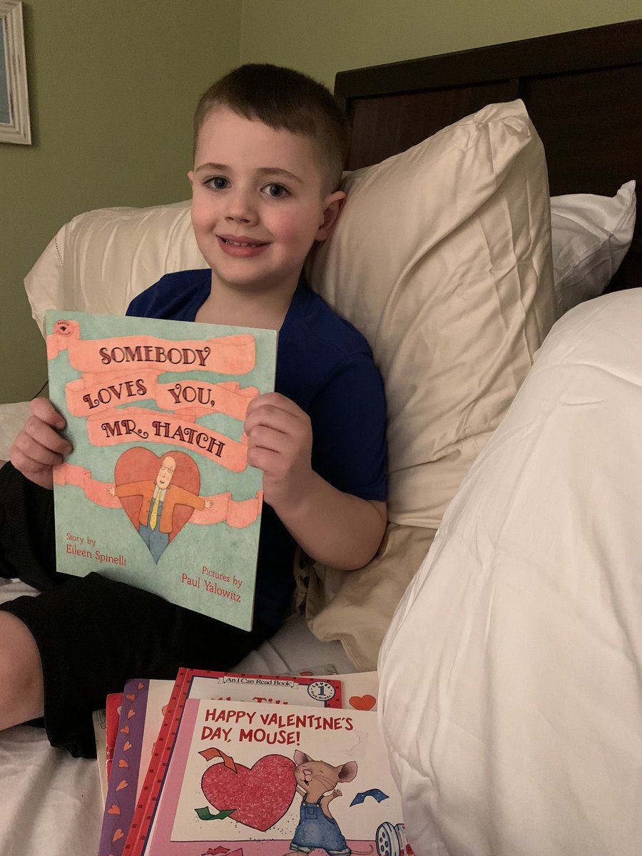 My best guy with our fave Valentine's Day book 😍 #kidlit #booklovers