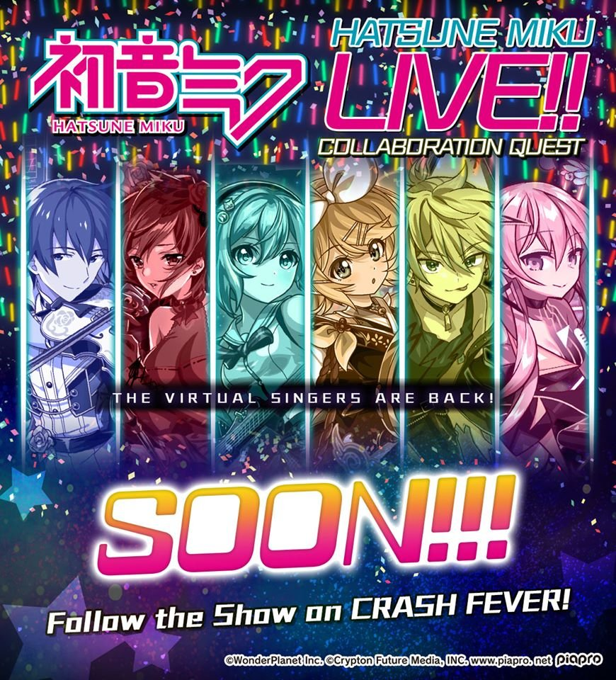 Hatsune Miku Live Collaboration Quest on CRASH FEVER