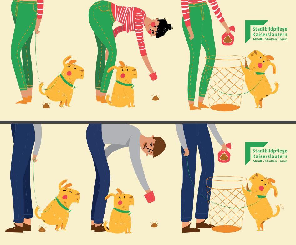 Weil Hundehäufchen nicht auf Gehwege und in Grünanlagen gehören, gibt es hier nochmal eine Anleitung zur richtigen Entsorgung!  40 Hundekotbeutelspender in #stadtkl helfen dabei! #pfotenliebe pic.twitter.com/dTo0rWhwWq