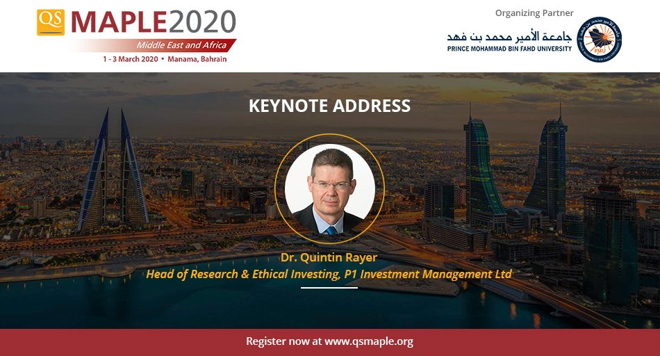 Dr Quintin Rayer to join us as #Keynotespeaker at #qsmaple2020!  He is a Chartered Fellow of @CISI, a Chartered Wealth Manager & has also has completed  @SIPC_CPPD becoming this program's 2nd graduate in the UK.   Learn more & register : http://bit.ly/qsmaple2020   #higheredpic.twitter.com/2AcYvS1QpP