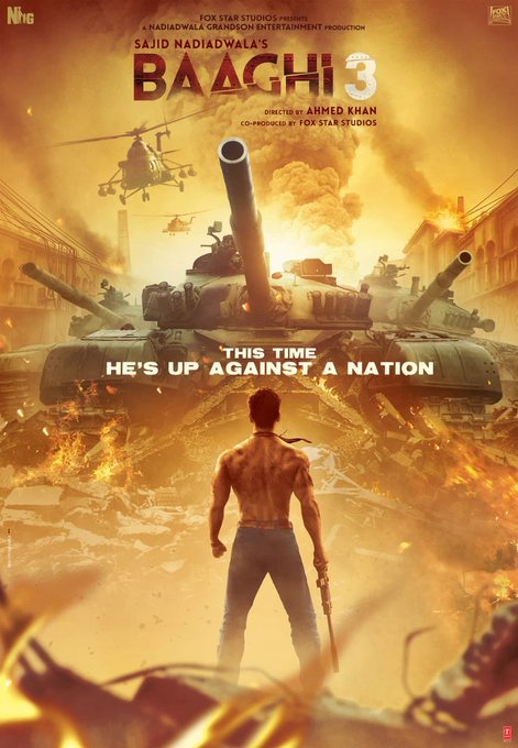 Against his strongest enemy, His greatest battle, Up against a nation, RONNIE is back! 💪🏻 #Baaghi3 trailer
