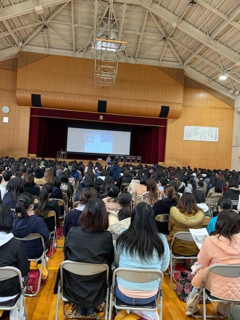 令和2年2月3日 高浜中学校 入学オリエンテーション  スマホ時代の子どもと向き合う〜SNS.、スマホの危険性〜、生徒の皆さん、保護者の皆さん、先生方ありがとうございました。