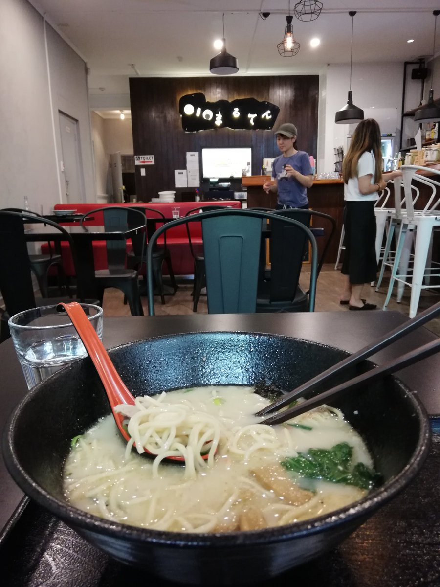 Maruten Ramen is officially my fav ramen place in #auckland now, love at first taste. They used to be in Mercury Plaza until it was demolished. Now on Dominion Road, dangerously on the way home. #foodtweet pic.twitter.com/UcAF1vHM3F