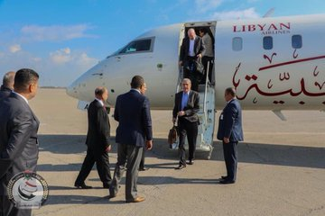 A delegation representing an #US private military company arrived in #Tripoli ,#Libya