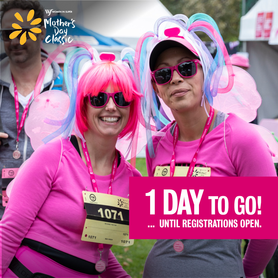 Get ready...Mother's Day Classic registrations are opening tomorrow 🎉 #makeitmeanmore #mdc2020 https://t.co/kJNruwTpMI