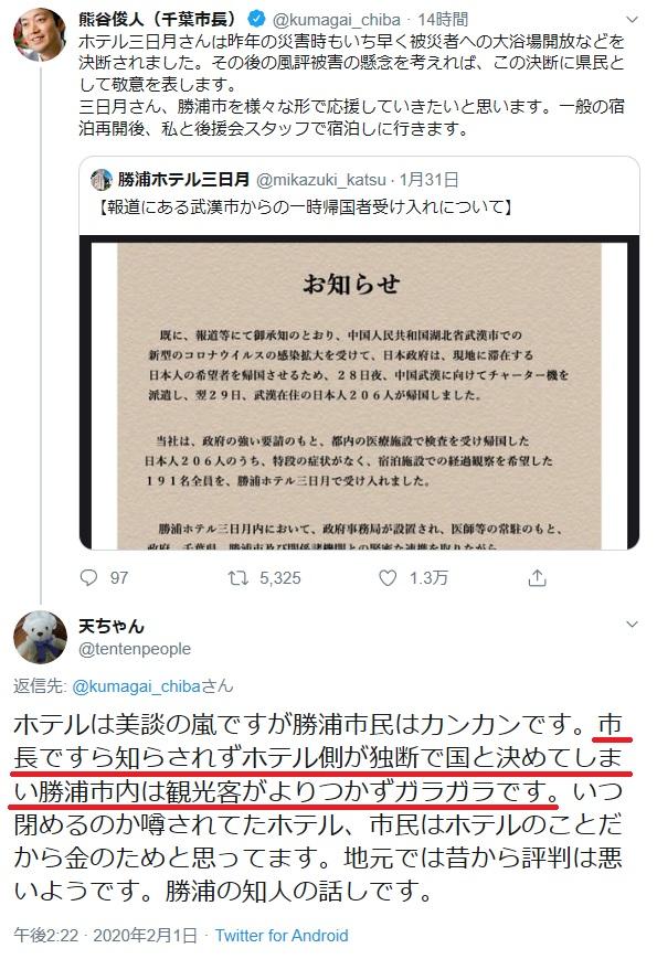 千葉 市長 ツイッター
