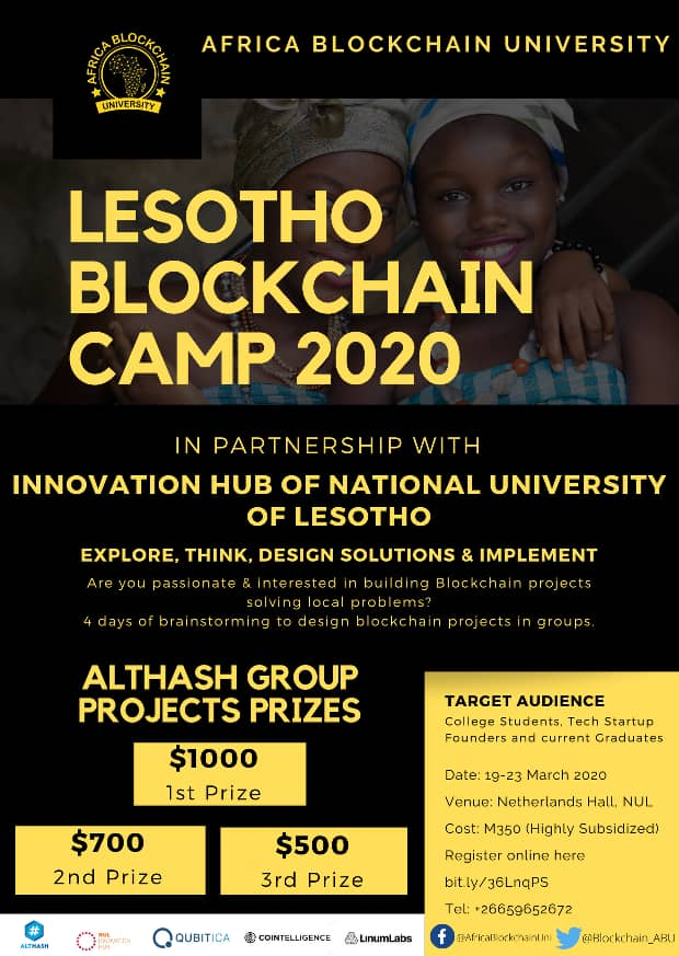 We are very excited to be part of this great blockchain initiative in Africa. #blockchain  #blockchaintechnology  #ethereum #africa #CryptoNews #crypto #BTC