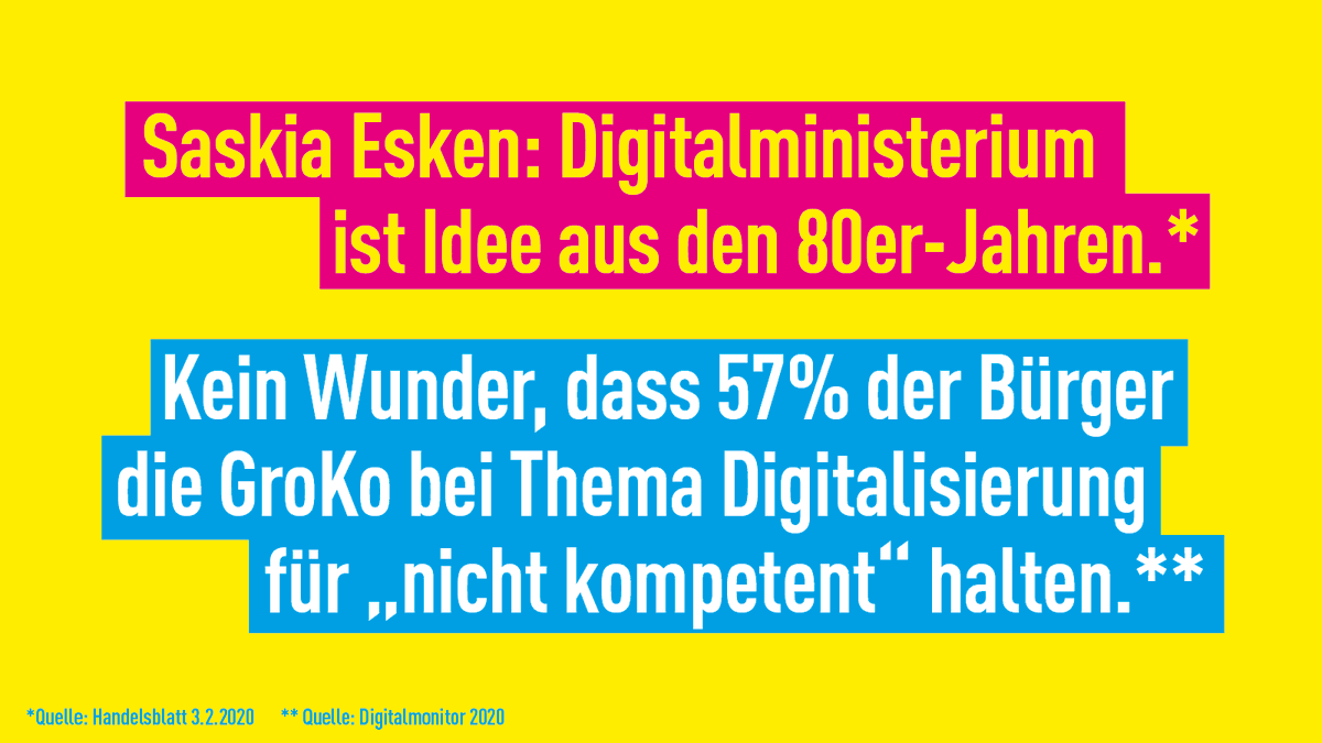 #Digitalministerium