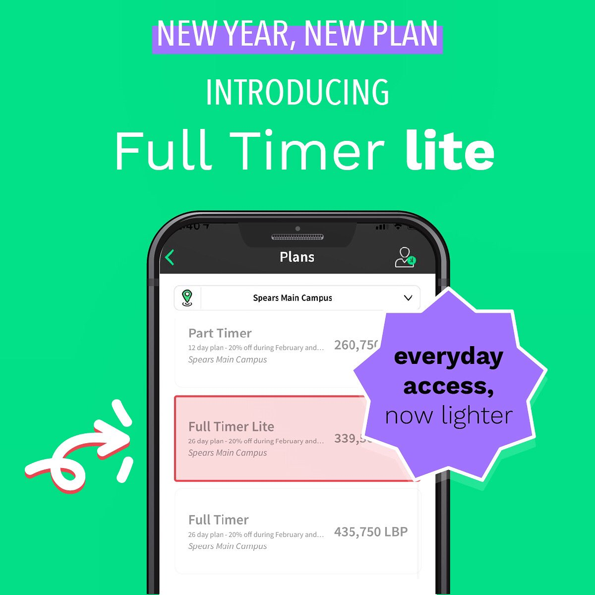 Your full timer membership has just gone lighter! Check out our newest and more affordable plan now on our website and app. You can now pay credit or cash in Lebanese Liras! Learn more: https://t.co/5HxnRcku94 https://t.co/XHDVJnpghz